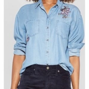 Knox Rose Long Sleeve Chambray Shirt Extra Large